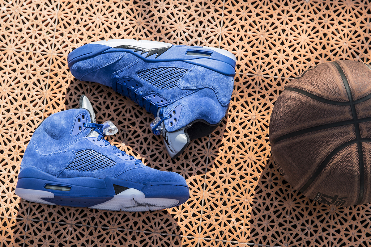 Air Jordan V Blue Suede