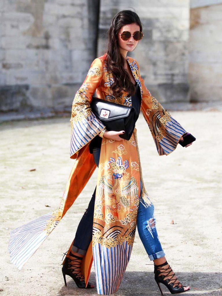 Street style japanizacija – kimono!